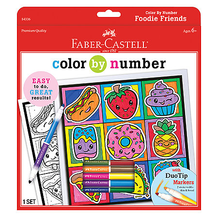 Color By Number Foodie Friends Kit