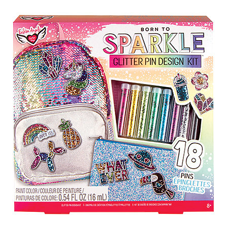Born to Sparkle Glitter Pin Design Kit