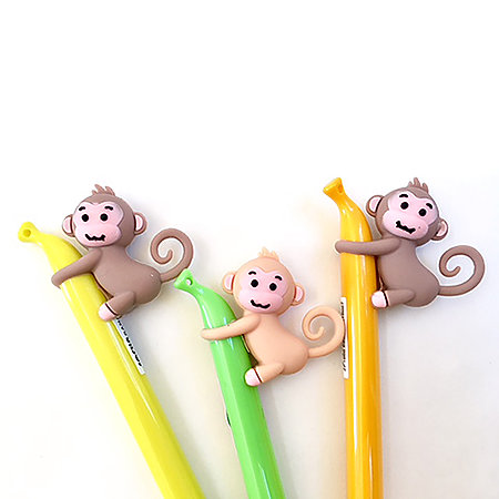 Monkey Banana Gel Pen P.O.P. Display