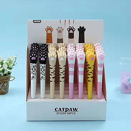 Cat Paw Gel Pen P.O.P. Display