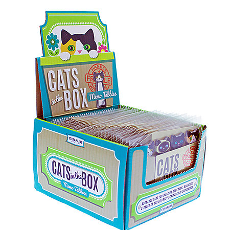Cats in the Box Memo Tabs P.O.P. Display