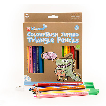 ColouRush Jumbo Triangle Pencils 12-Color Pack