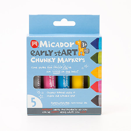 Chunky Markers 5-Color Set