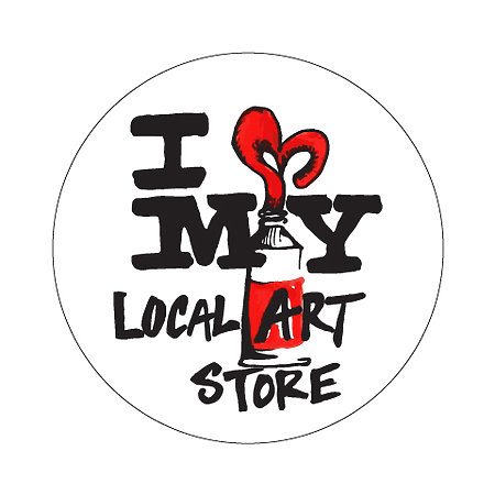 """I Heart My Local Art Store"" Stickers"