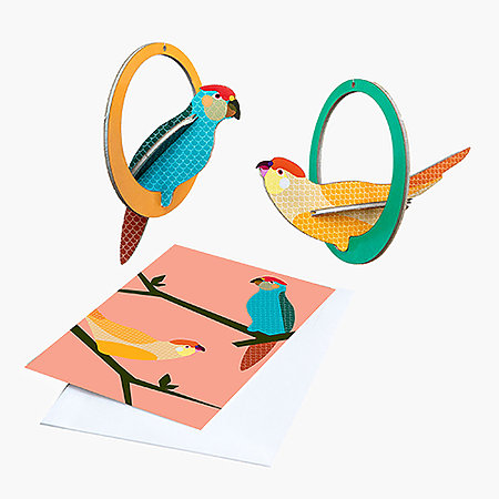 Paradise Birds Pop Out Mobile Cards