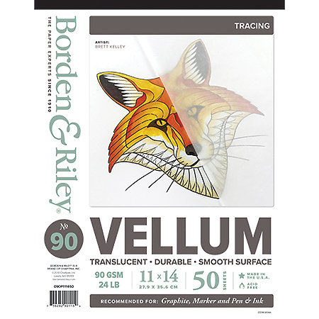 #90 Vellum Sheer Trace Medium Weight Pads