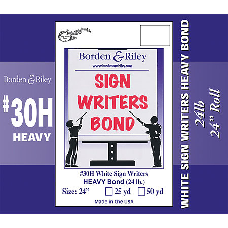 #30 Sign Writers Poster Bond Rolls
