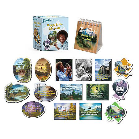 Bob Ross Happy Little Magnet Set Mini Edition