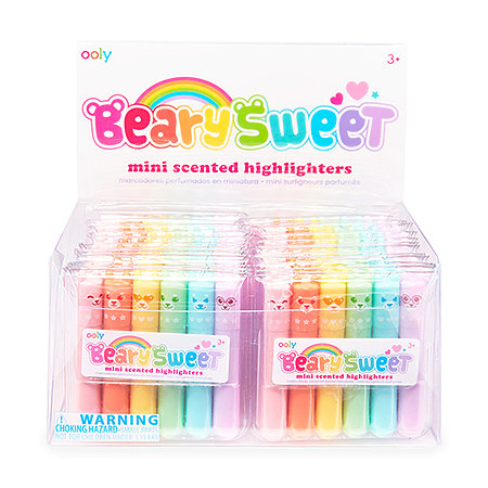 Beary Sweet Mini Scented Neon Highlighter P.O.P. Display