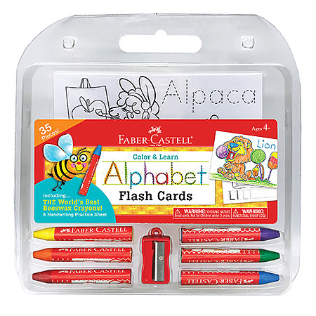 Color & Learn Alphabet Flash Cards Set