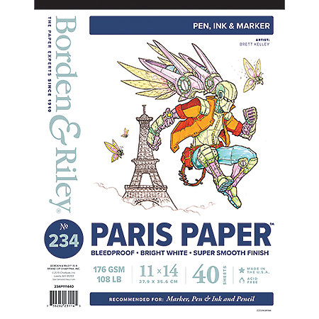 #234 Paris Paper for Pens Pads