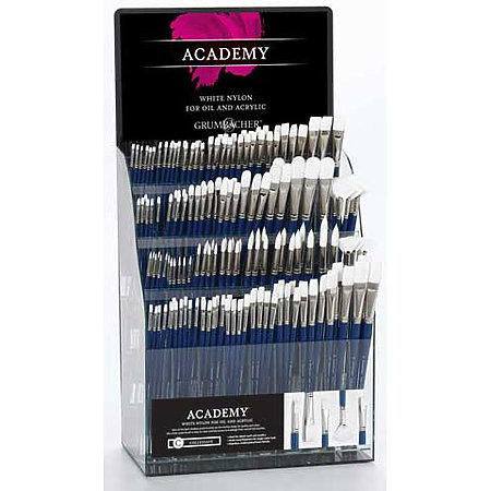 Academy White Synthetic Brush Assortment Display