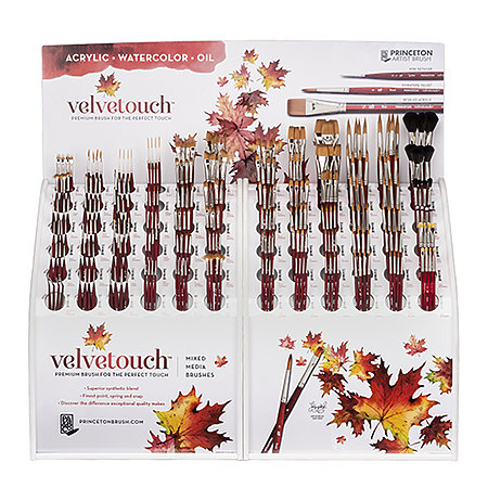 Velvetouch Mixed Media Brushes Series 3950 72 Styles Counter Assortment Display