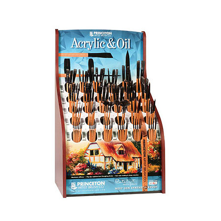 Catalyst Polytip Bristle Short Handle Brushes Assortment Display