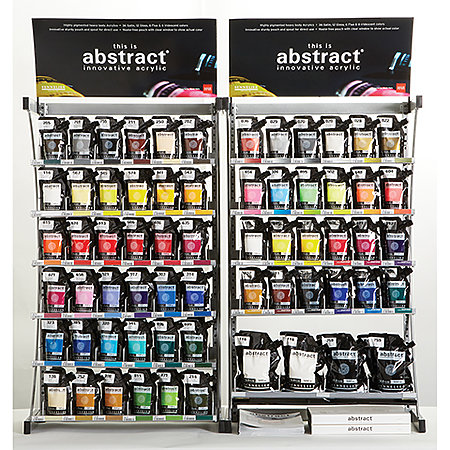 Abstract Acrylics 120ml Counter Assortment Display