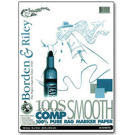 100S Smooth Cotton Comp 100% Rag Marker Paper Pads