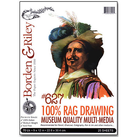#627 100% Rag Drawing Paper Pads