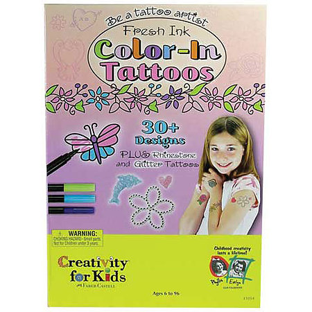 Color-in Tattoo Party Kit