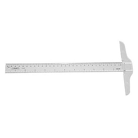 "12"" Calibrated Plastic T-Square"