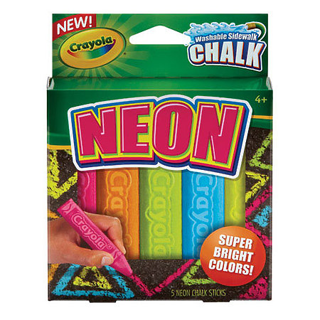 Neon 3-D Chalk Play Pack