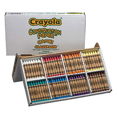 Large Construction Paper Crayons