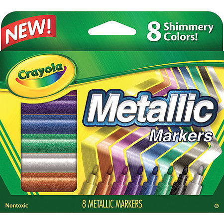 Metallic Markers 8-Color Set