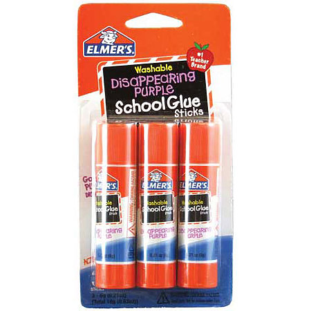 Washable Disappearing Purple School Glue Sticks