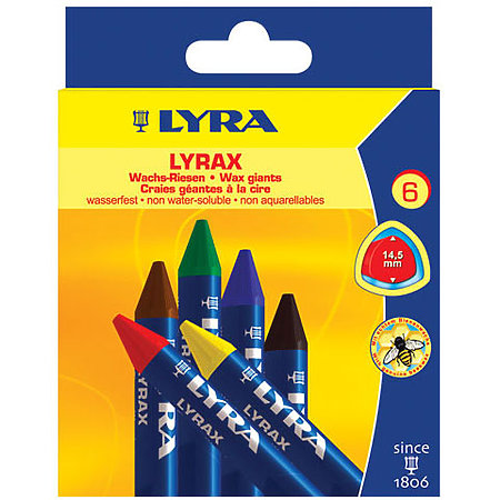 LYRAX Wax-Giants & Wax Crayons in Squares Sets