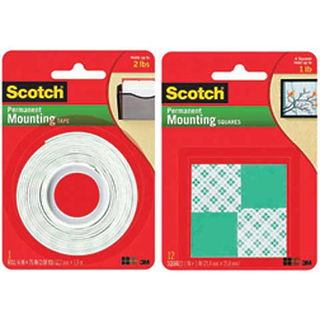Scotch Mounting Squares and Tape