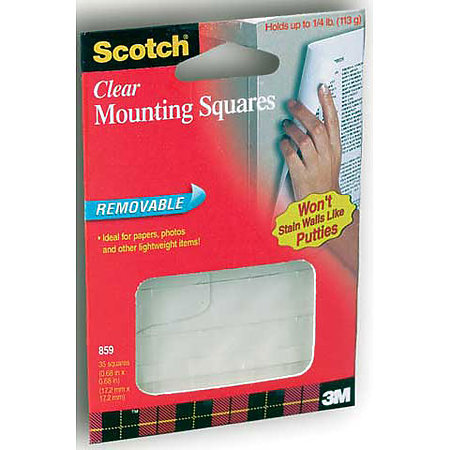 859 Scotch Clear Removable Mounting Squares