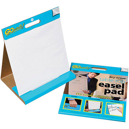 Go Write! Dry Erase Table Top Easel Pad